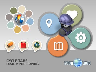 ID# 18248 - Cycle Tabs - PowerPoint Template