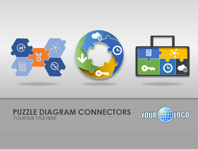 ID# 18482 - Puzzle Diagrams - PowerPoint Template