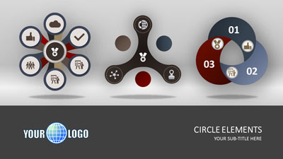 ID# 18512 - Circle Elements - PowerPoint Template