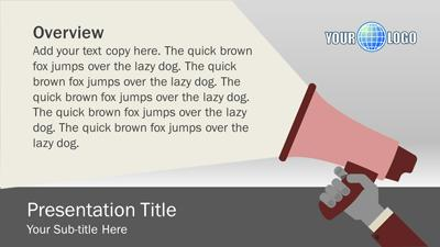 Megaphone Template | Megaphone Illustrations A Powerpoint Template From Presentermedia Com