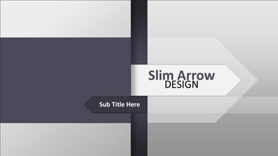 ID# 18581 - Slim Arrow Design - PowerPoint Template