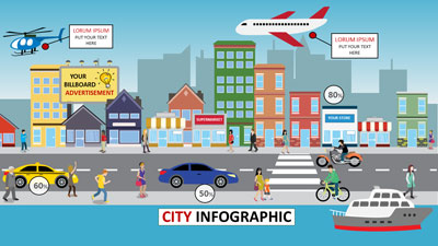 ID# 18684 - City Infographic - PowerPoint Template