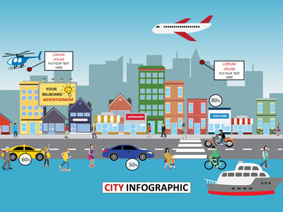 ID# 18693 - City Infographic - PowerPoint Template