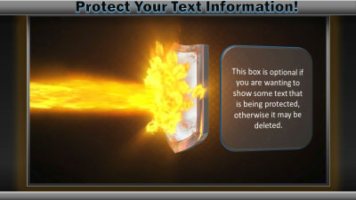 ID# 18902 - Shield Protection - PowerPoint Template