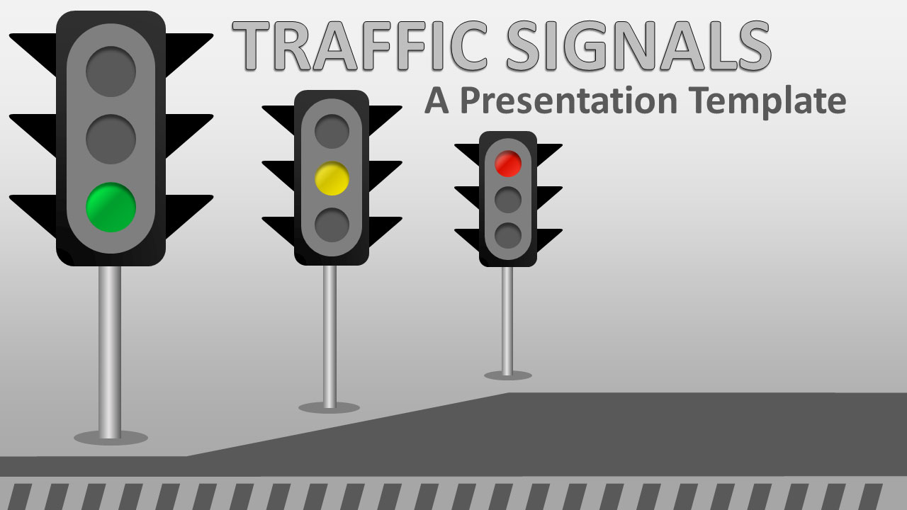 ID# 18946 - Traffic Signals - PowerPoint Template