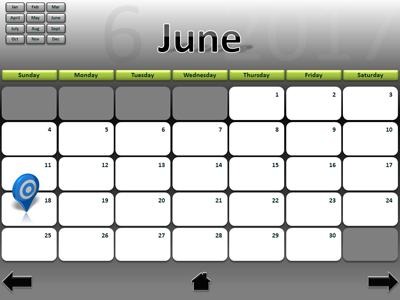 Interactive Calendar  A Powerpoint Template From