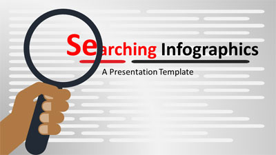 ID# 19070 - Searching Infographics - PowerPoint Template