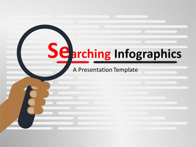 ID# 19071 - Searching Infographics - PowerPoint Template