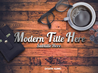 ID# 19269 - Modern Rustic Coffeeshop - PowerPoint Template