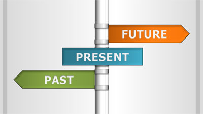 ID# 19302 - Past Present Future - PowerPoint Template