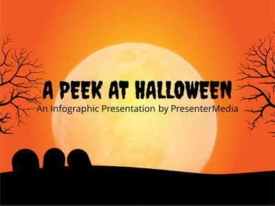 ID# 19363 - Peek At Halloween - PowerPoint Template