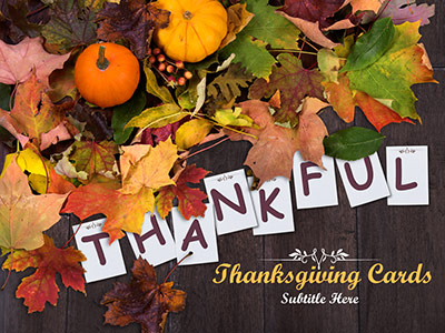 ID# 19386 - Thanksgiving Cards - PowerPoint Template