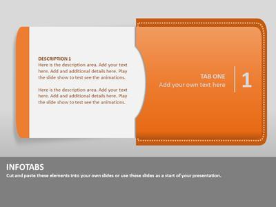 info tabs - a powerpoint template from presentermedia, Modern powerpoint