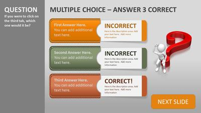 ID# 19451 - Quiz Tabs - PowerPoint Template