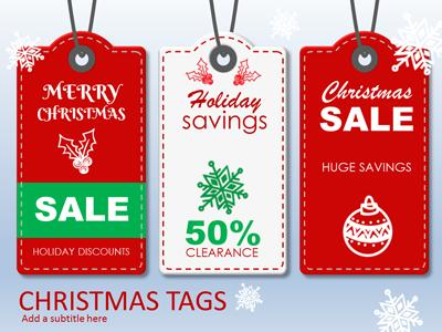 Christmas Tags - A Powerpoint Template From Presentermedia.Com