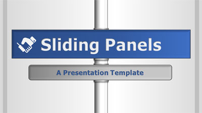 ID# 19937 - Sliding Info Panels - PowerPoint Template