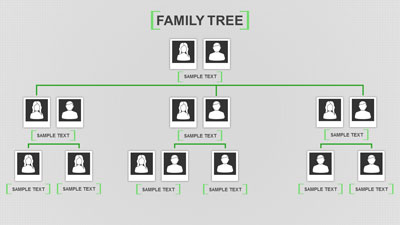 ID# 20000 - Family Tree Toolkit - PowerPoint Template