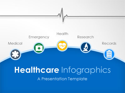 Healthcare Infographic Slides PowerPoint Template
