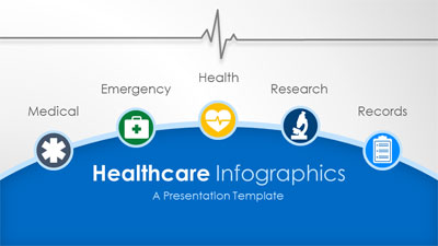 ID# 20017 - Healthcare Infographic Slides - PowerPoint Template