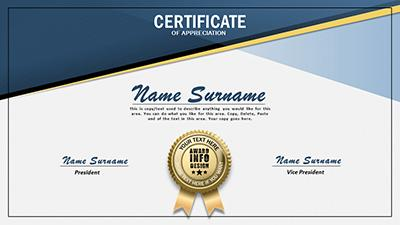 Loaded certificate a powerpoint template from presentermedia home powerpoint templates yadclub Gallery
