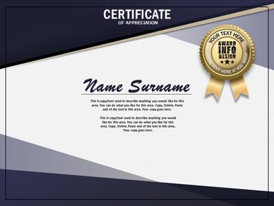 Loaded certificate a powerpoint template from presentermedia id20048 standard template loaded certificate toneelgroepblik Image collections