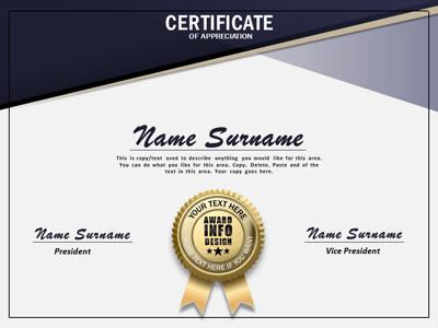 Loaded certificate a powerpoint template from presentermedia home powerpoint templates yadclub Choice Image