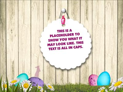 Funny Easter Bunny  A Powerpoint Template From PresentermediaCom
