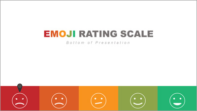 ID# 20233 - Bottom Emoji Rating Toolkit - PowerPoint Template