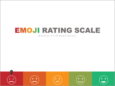 Bottom Emoji Rating Toolkit PowerPoint Template