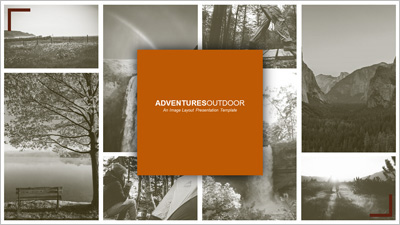 ID# 20284 - Adventures Outdoor Image Layout - PowerPoint Template