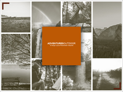ID# 20286 - Adventures Outdoor Image Layout - PowerPoint Template