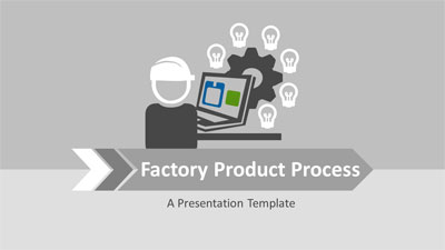ID# 20426 - Factory Product Process - PowerPoint Template