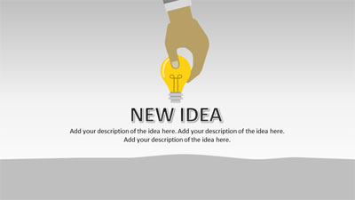 ID# 20522 - Plant An Idea - PowerPoint Template