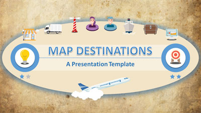 ID# 20533 - Map Destinations - PowerPoint Template