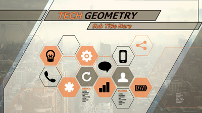 ID# 20577 - Tech Geometry - PowerPoint Template