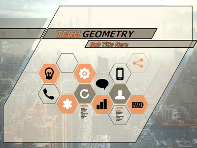 ID# 20580 - Tech Geometry - PowerPoint Template