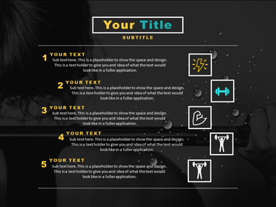 Fitness quote a powerpoint template from presentermedia id20654 standard template fitness quote toneelgroepblik Choice Image