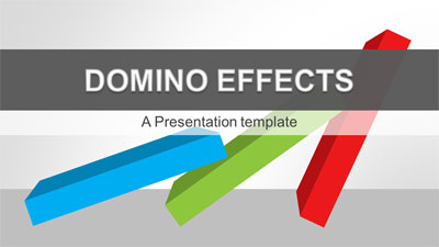 ID# 20898 - Domino Effects - PowerPoint Template