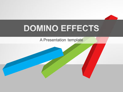 ID# 20899 - Domino Effects - PowerPoint Template