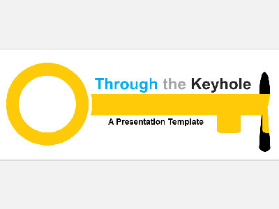 ID# 20945 - Through The Keyhole - PowerPoint Template