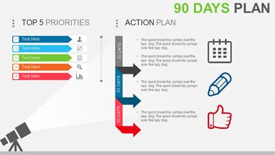 30 60 90 plan a powerpoint template from presentermedia flashek Gallery