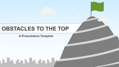 ID# 21001 - Obstacles To The Top - PowerPoint Template