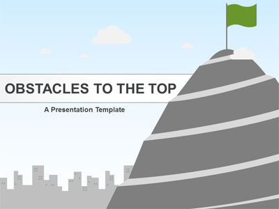 ID# 21002 - Obstacles To The Top - PowerPoint Template