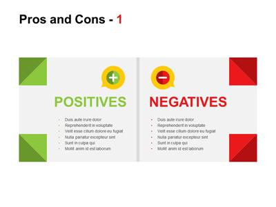 pros and cons - a powerpoint template from presentermedia, Powerpoint templates