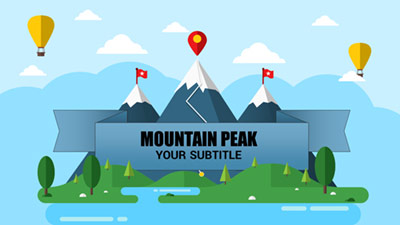 ID# 21339 - Mountain Peaks - PowerPoint Template