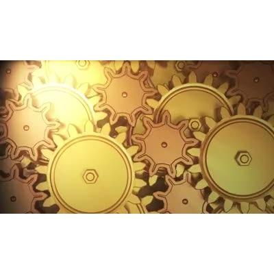 ID# 6100 - Golden Gears - Video Background