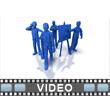 ID# 6192 - Building Blocks Businessmen - Video Background