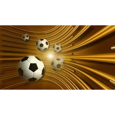 ID# 6400 - Gold Soccer - Video Background