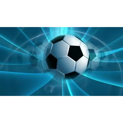 ID# 6473 - Blue Soccer - Video Background