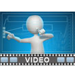 Stick Figure Future Interface PowerPoint Video Background